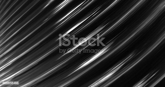 istock 3D Abstract Metallic Reflection. 668858466