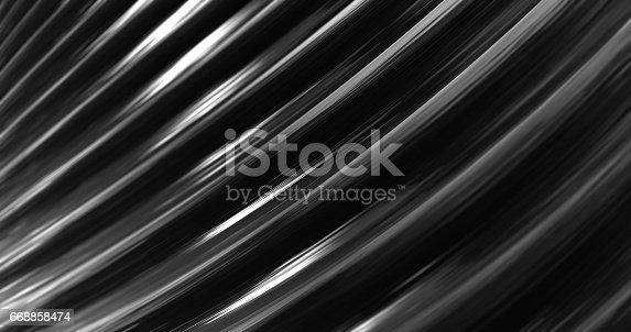 istock 3D Abstract Metallic Reflection. 668858474