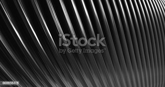 istock 3D Abstract Metallic Reflection. 668858478