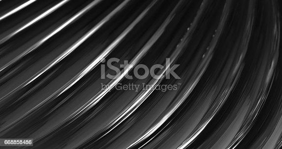 istock 3D Abstract Metallic Reflection. 668858486