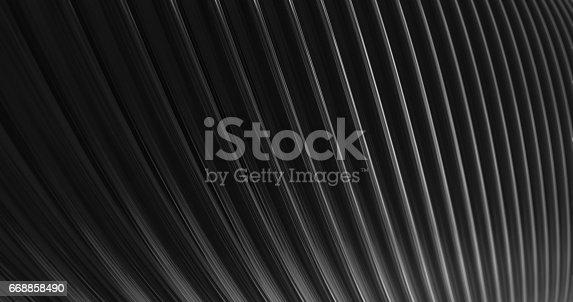 istock 3D Abstract Metallic Reflection. 668858490