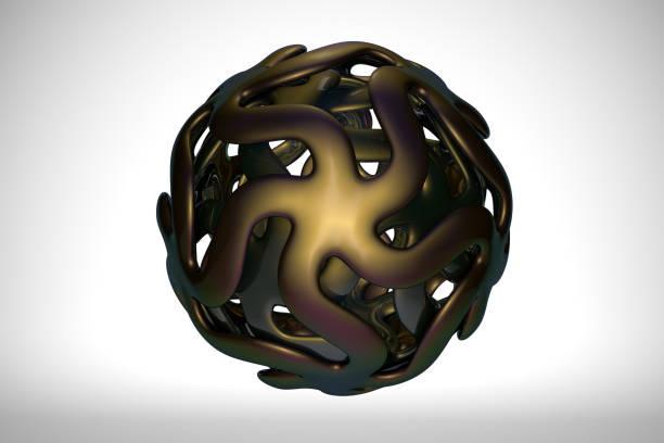 Abstract metallic sphere stock photo