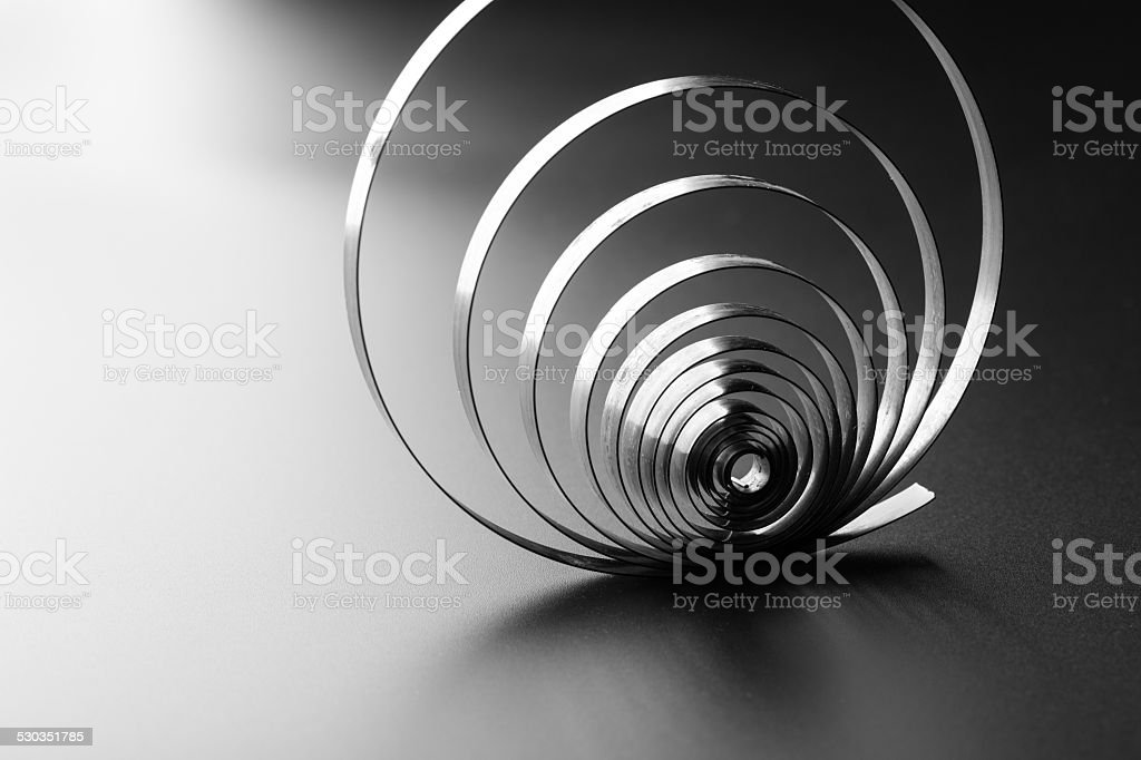 Abstract metallic spring stock photo