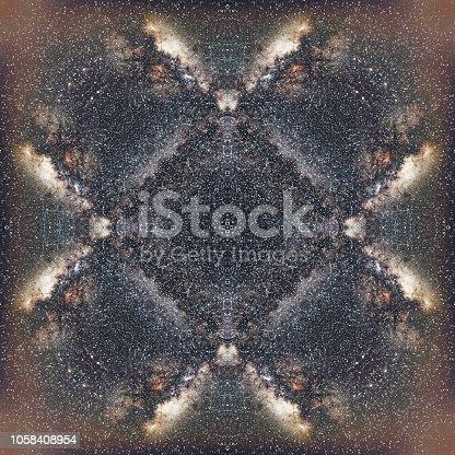 Symmetrical composite Milky Way pattern.