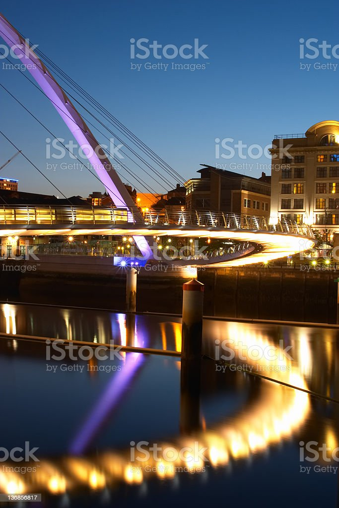 Abstract Millennium Bridge Reflections 5 royalty-free stock photo