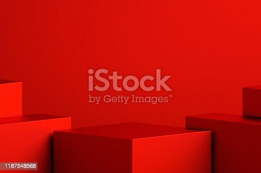 istock Abstract minimal scene background with geometric forms, can be used for commercial advertising. 1187548568