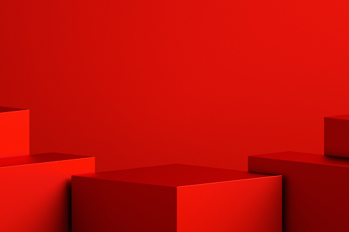 Abstract minimal scene background with geometric forms, can be used for commercial advertising.