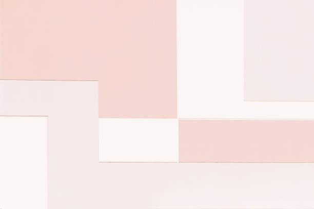abstract minimal style architecture background. modern warm pastel color building facade detail. - штриховой рисунок стоковые фото и изображения