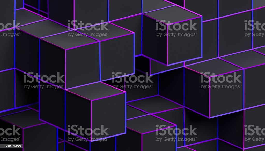 Abstract Minimalistic 3D Background stock photo