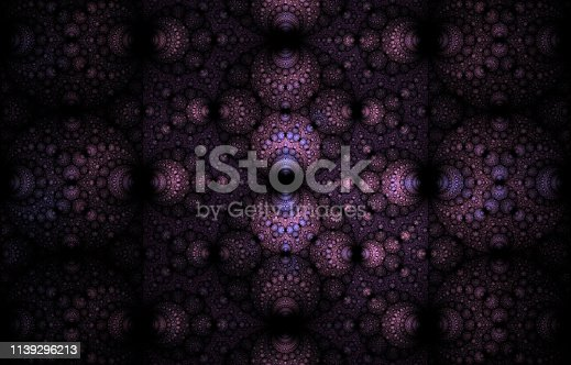 Abstract fractal art background illustration space geometry. Background consists fractal multicolor texture and suitable for use in projects imagination, creativity and design.