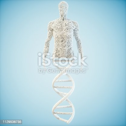istock Abstract model  human of DNA molecule 1129538735