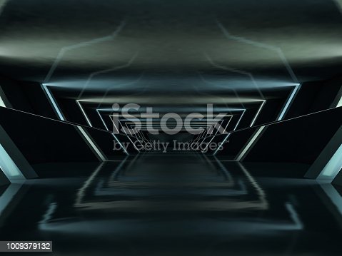 istock Abstract modern architecture background. 3D rendering 1009379132