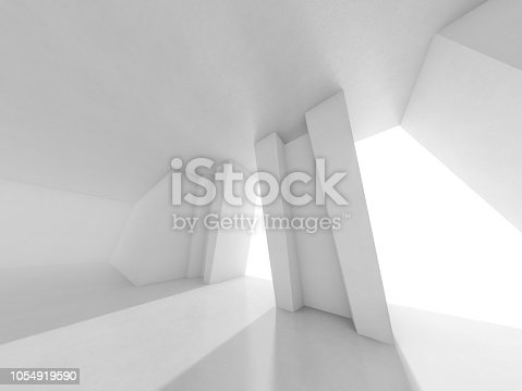 962326404istockphoto Abstract modern architecture background. 3D rendering 1054919590