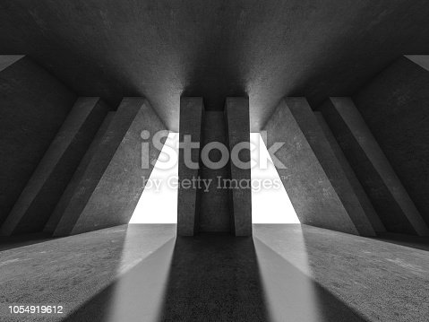 962326404istockphoto Abstract modern architecture background. 3D rendering 1054919612