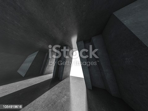 962326404istockphoto Abstract modern architecture background. 3D rendering 1054919616