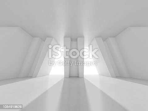 962326404 istock photo Abstract modern architecture background. 3D rendering 1054919626