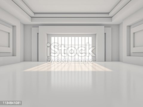 470934084 istock photo Abstract modern architecture background. 3D rendering 1134841031