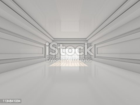 470934084 istock photo Abstract modern architecture background. 3D rendering 1134841034