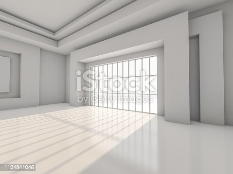 470934084 istock photo Abstract modern architecture background. 3D rendering 1134841046