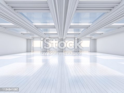 470934084 istock photo Abstract modern architecture background. 3D rendering 1134841082