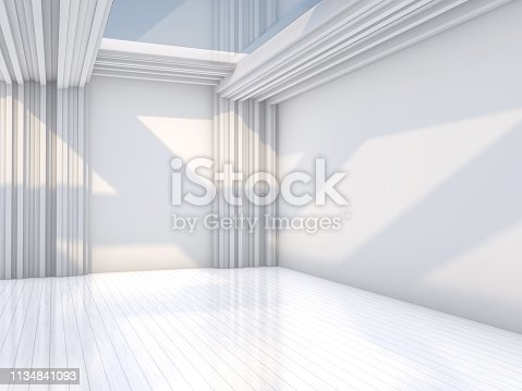 470934084 istock photo Abstract modern architecture background. 3D rendering 1134841093
