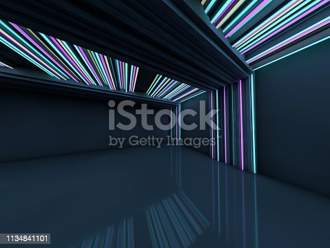istock Abstract modern architecture background. 3D rendering 1134841101