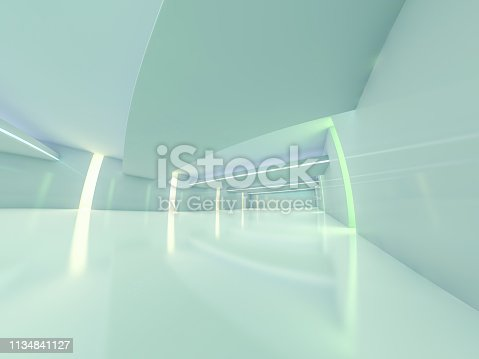 470934084 istock photo Abstract modern architecture background. 3D rendering 1134841127