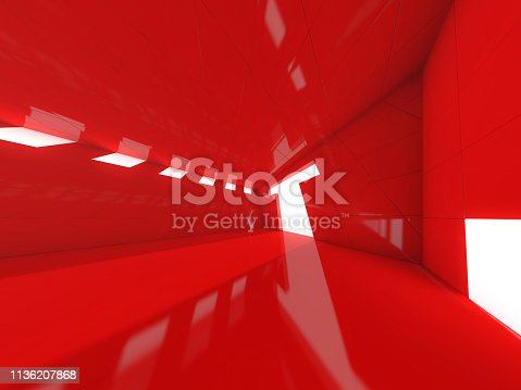 istock Abstract modern architecture background. 3D rendering 1136207868