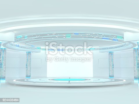 istock Abstract modern architecture background. 3D rendering 924403484