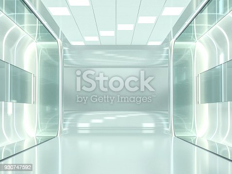 istock Abstract modern architecture background. 3D rendering 930747592
