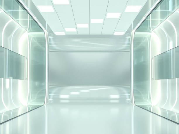 abstrakte moderne architektur hintergrund. 3d-rendering - büro zukunft und niemand stock-fotos und bilder