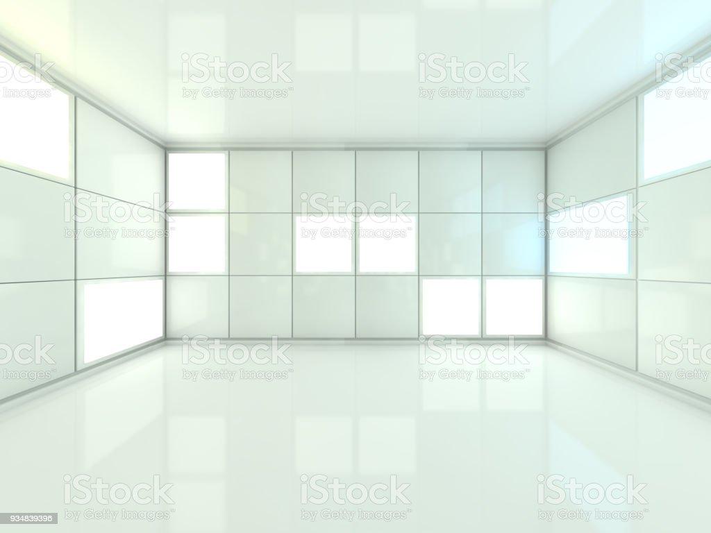 추상적인 현대 건축 배경입니다. 3 차원 렌더링 - 로열티 프리 0명 스톡 사진