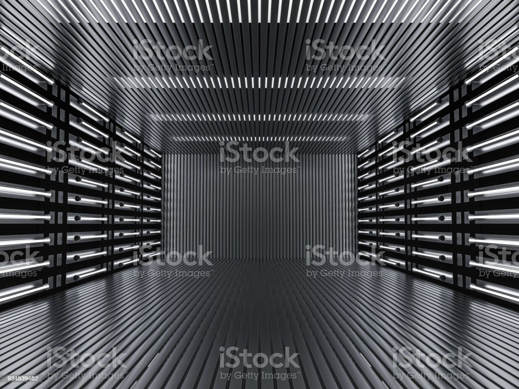 Abstract modern architecture background. 3D rendering stock photo