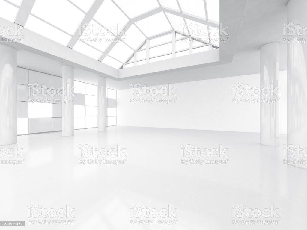 Abstract achtergrond van moderne architectuur lege witte open ruimte