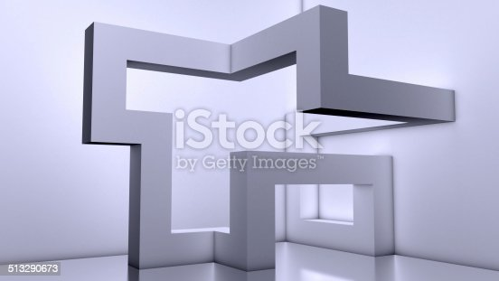istock Abstract Modern Architecture Background,3d Building Blocks 513290673
