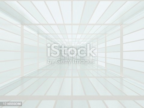 996693064 istock photo Abstract modern architecture, empty room 1216559286