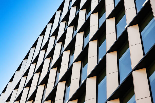 Abstract Modern Architecture in the City of London stock photo