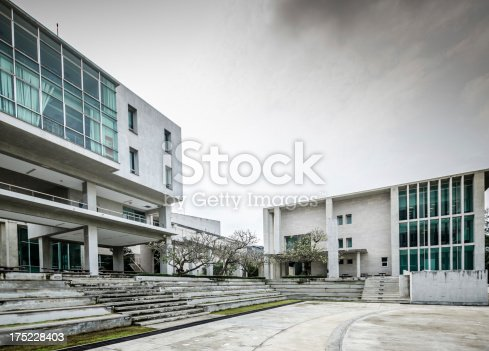 Abstract modern architecture background  . Toned color image