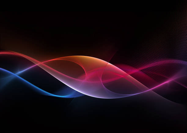 abstract modern background, concept of science, technology and energy stock photo