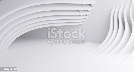 istock Abstract Modern Background. Dynamic Wave Design 3d-illustration 1162243730