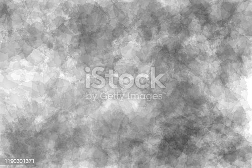 534130204istockphoto Abstract modern black and white painting . Dry brush painted paper , canvas , wall . Textured monochrome background. 1190301371