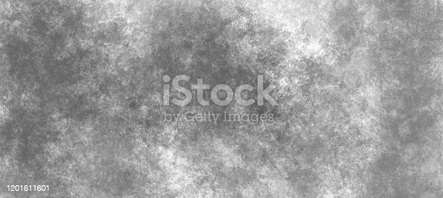 534130204 istock photo Abstract modern black and white painting . Textured monochrome grunge background. 1201611601
