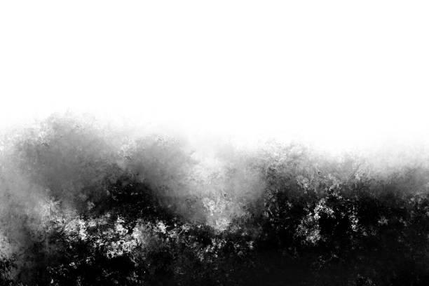 soyut modern siyah beyaz boyama . dokulu tek renkli arka plan. - tuval üzerine akrilik stok fotoğraflar ve resimler