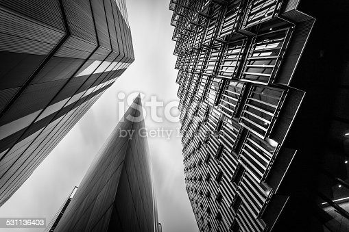 istock Abstract modern Business buildings in London's Financial District BW 531136403