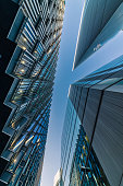 istock Abstract modern Business buildings in London's Financial District - stock image 1161009552