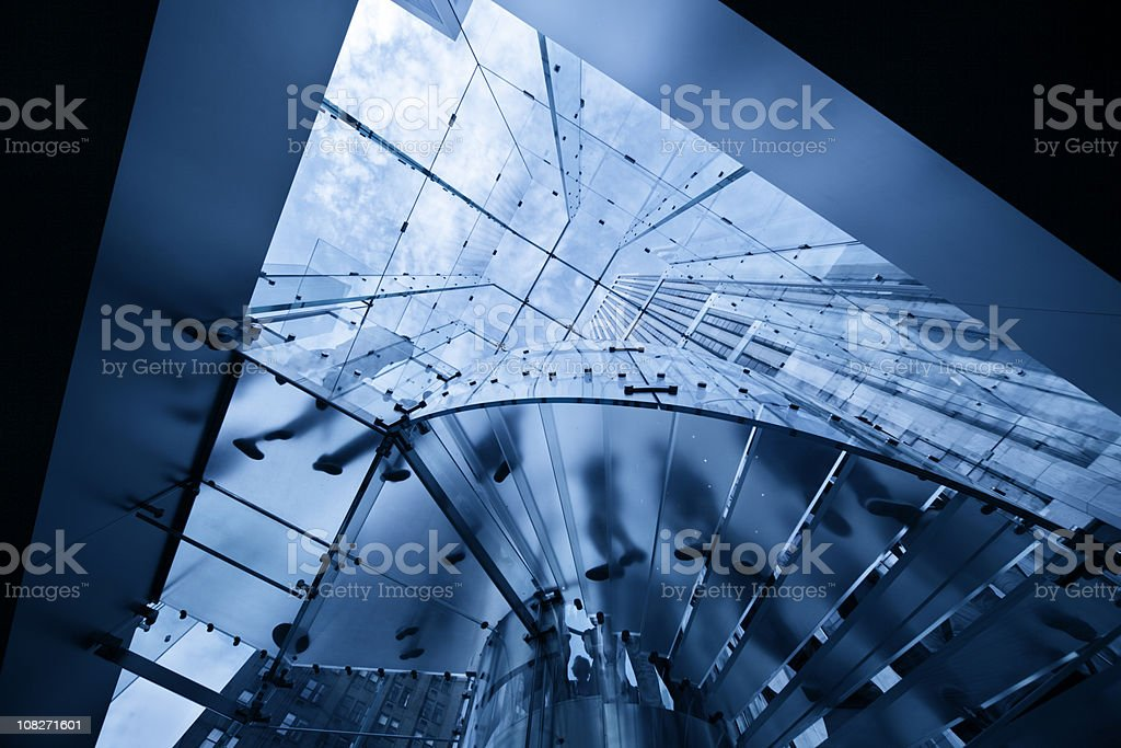 abstract modern business lobby royalty-free stock photo