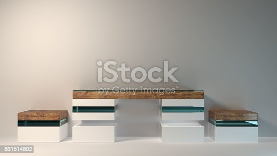 istock Abstract modern furniture 3D Rendering 831514802