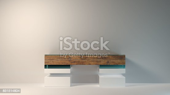 istock Abstract modern furniture 3D Rendering 831514804