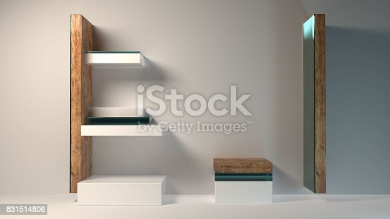 istock Abstract modern furniture 3D Rendering 831514806