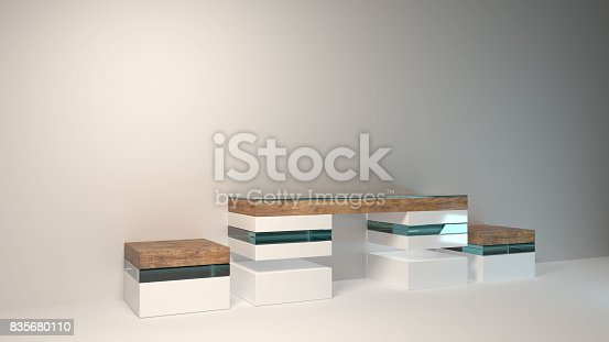 istock Abstract modern furniture 3D Rendering 835680110